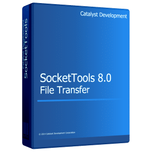 The SocketTools File Transfer components make it easy to add file transfer functionality to your applications. Includes .NET and ActiveX components, supports 32-bit and 64-bit platforms and both IPv4 and IPv6 connections.
