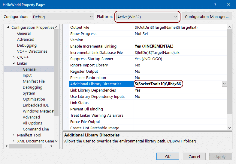 Visual Studio 2019 Project Library Directories